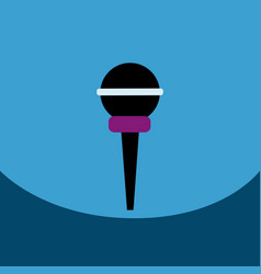 flat icon design collection microphone in vector image