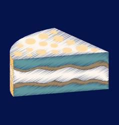 flat shading style icon design cake vector image