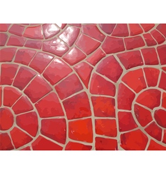 Glazed red stone mosaic texture vector