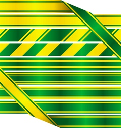 Green and yellow ribbons vector image