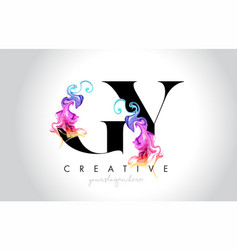 Gy vibrant creative leter logo design with vector