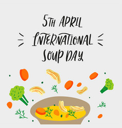 Hand drawn chicken soup vector