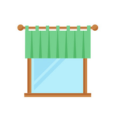 House window element flat style frame domestic vector