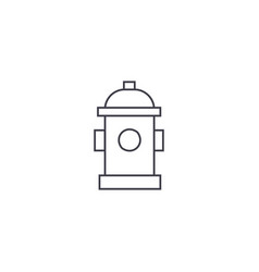 hydrant thin line icon concept hydrant linear vector image