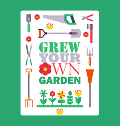 inspirational gardening poster vector image
