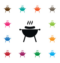 Isolated brazier icon bbq element can be vector