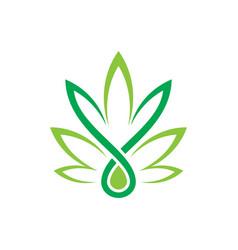 Leaf eco sign logo vector
