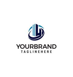 letter h hotel building logo design concept vector image