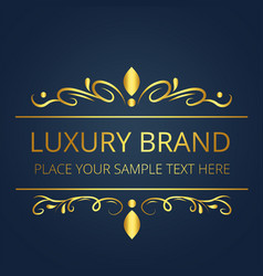 Luxury brand gold modern design image vector