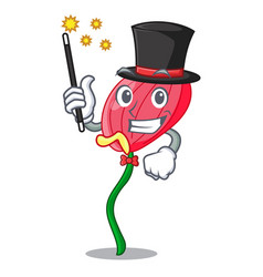 Magician pink anthurium flowers in character funny vector