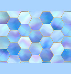 Marble abstract background in holographic glow vector