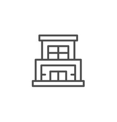 modern building line icon vector image