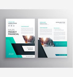 Modern geometric busines flyer poster brochure vector