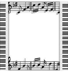 Musical frame vector image