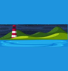 nature island at night vector image