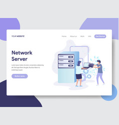 network server concept vector image