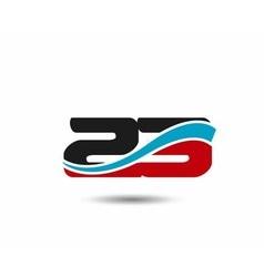 Number 23 swoosh design template logo vector image