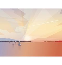 Ocean view landscape vector