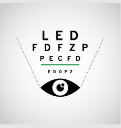 Optometry logo icon design vector