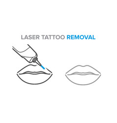 permanent makeup removal microblading laser vector image