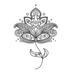 Persian paisley flower design vector