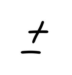 Plus minus sign design symbol more or less vector