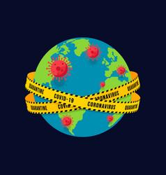 Prevent outbreak covid-19 or coronavirus vector