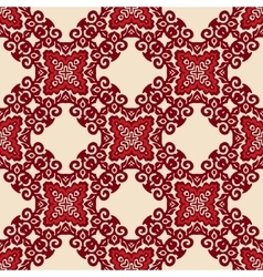 red seamless pattern ornament motif vector image