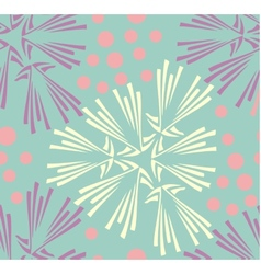 seamless pattern Hand drawn floral texture vector image
