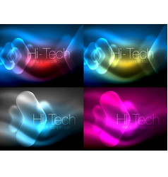 set of abstract backgrounds blurred arrows in vector image