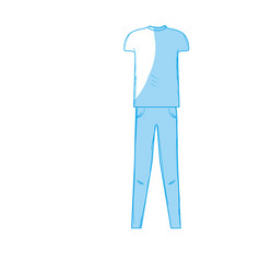 Silhouette cute man casual wear design vector