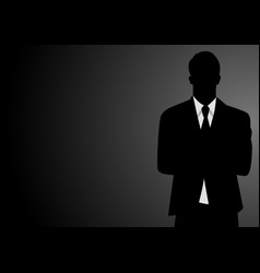 silhouette of a businessman vector image