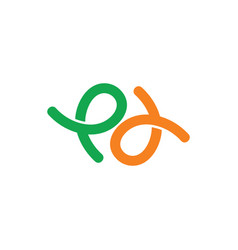 Simple letter pd circle doodle design logo vector