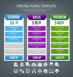 Software Pricing Plans Template vector image