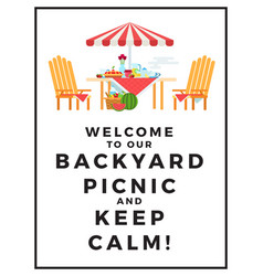 Summer picnic wooden table and vector