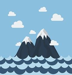 summer sea and mountain vector image