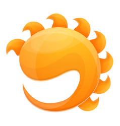 Sunlight protect icon cartoon style vector