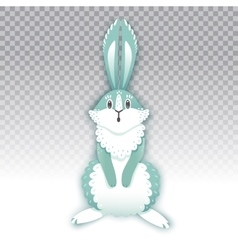 Surprised cartoon rabbit Funny bunny Cute hare vector image