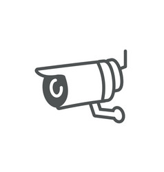 surveillance camera protection safety line vector image
