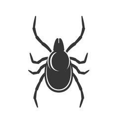 Tick sign on white background bug icon vector