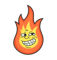 Troll meme fireball cartoon vector