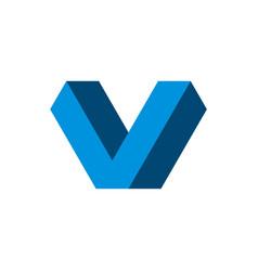 v letter logo template design eps 10 vector image