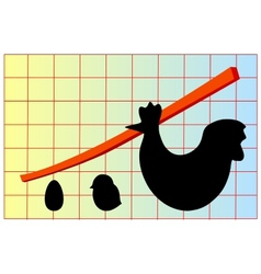 value increase chart vector image