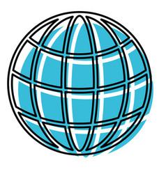 watercolor silhouette of world globe icon vector image