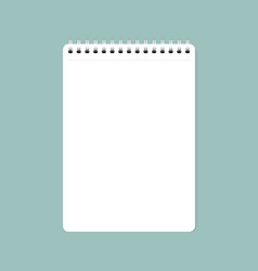 white clean sheet of paper vector image