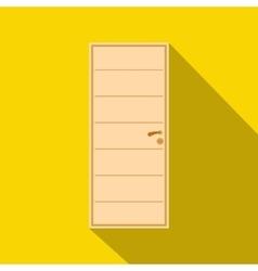 Wooden door icon flat style vector image