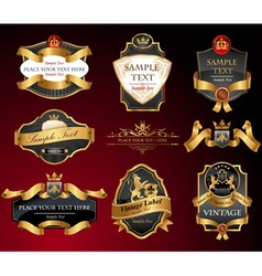 Black and gold labels vector image vector image