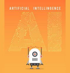 artificial intelligence and modern robot vector image