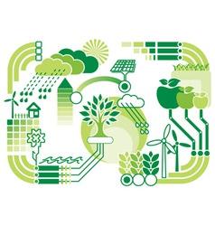eco infographics vector image