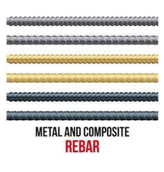 Endless rebars reinforcement steel and composite vector